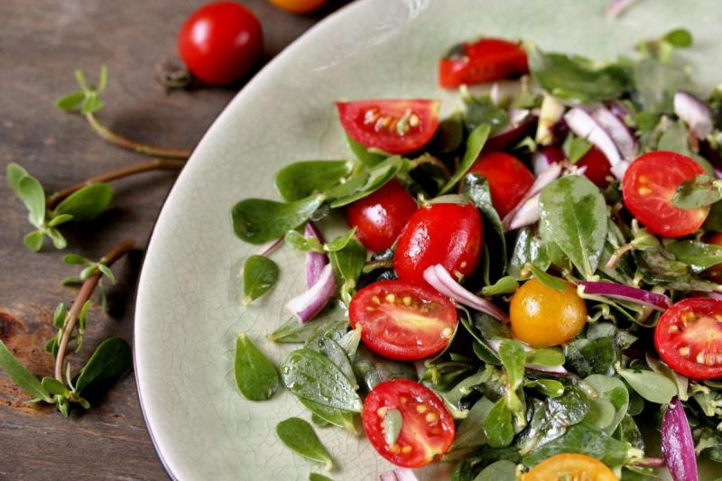 Purslane in Salads