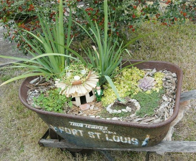 Wheelbarrow Garden