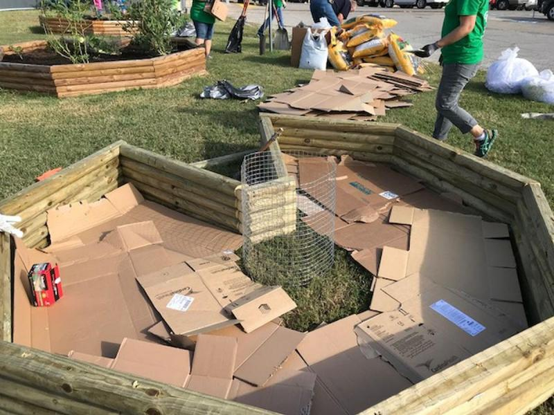 Keyhole Garden Construction at Victoria County Community Gardens