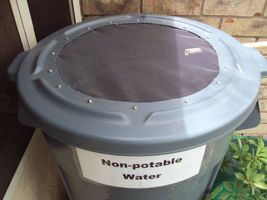 Rainwater container lid