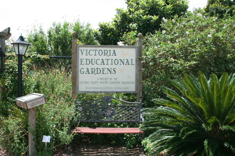 Victoria Educational Gardens Welcome Sign