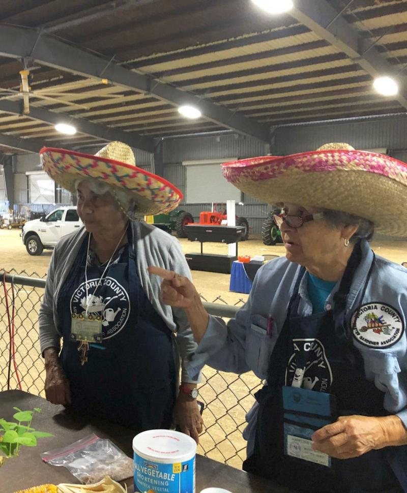 Master Gardeners Lupe Cook and Madeline Garcia at Farm & Ranch Show