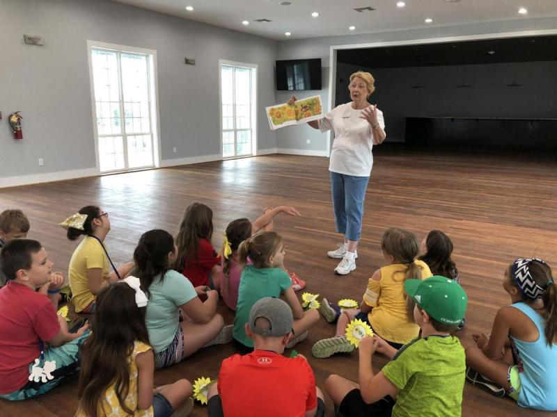 Master Gardener Linda Hartman at Summer Kids Camp